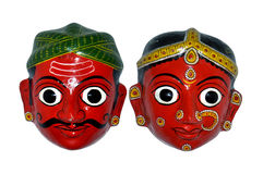 Indian puppet faces Stock Photography