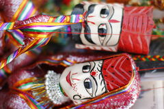 Indian puppets. Pair of Indian puppets in traditional dress Stock Photography