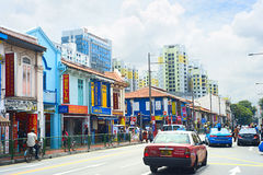 Indian quarter in Singapore Stock Image