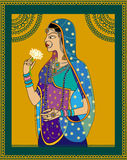 Indian Queen / princess portrait Royalty Free Stock Images