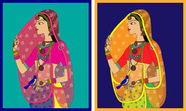 Indian Queen / princess portrait Royalty Free Stock Photos