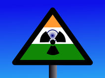 Indian radioactivity sign Stock Photo