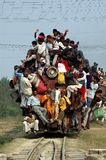 Indian Rail Journey. July 26,2009-Jaynagar, Bihar, India-Indian Railways stock photography