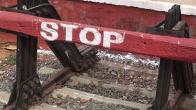 Indian railway end in Kanyakumari rail station,South India stock video footage
