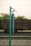 Indian railway platform iron calling bell Stock Photography