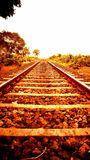 Indian Railway track Royalty Free Stock Photography