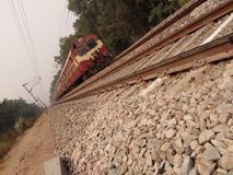 Indian Railway. Track  stones outdoor Stock Images