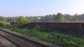 Indian railway travel background,  India stock video footage
