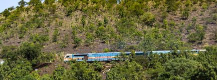 Indian Railways on a Mountain stock photography