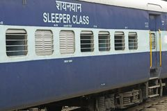 Indian Railways Sleeper Carriage Royalty Free Stock Image