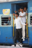 Indian railways, standing room only. Stock Image