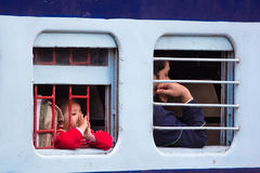 Indian railways transport 20 million passengers daily. Stock Photos