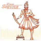 Indian Raja Shivaji in sketchy look Stock Photo