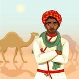 Indian rajasthani cameleer man Royalty Free Stock Photo