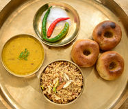 Indian Rajasthani food Royalty Free Stock Photos