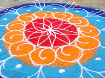 Indian Rangoli Stock Photo