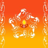 Indian rangoli design Stock Photography