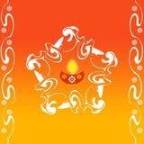 Indian rangoli design. For diwali festival Stock Photography