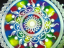 Indian Rangoli Design Stock Images