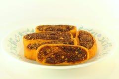 Indian recipe bhakhar wadi  fritters Royalty Free Stock Image