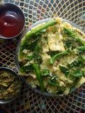 Indian recipe khamand. Gujrati food breakfast Stock Image