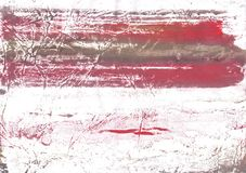 Indian red blurred wash drawing background. Hand-drawn abstract watercolor texture. Used contrasting and transient colors Stock Photo