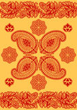 Indian red ornament Royalty Free Stock Images