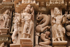 Free Indian Religious Symbols On Temples In Khajuraho Royalty Free Stock Photos - 36406518