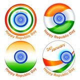 Indian Republic Day. Vector illustration of tag for Indian Republic Day Stock Photography