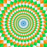 Indian Republic day with Ashoka wheel. Indian national flag tricolors theme background for Indian Republic day and Independence day with Ashoka wheel. 15 th of Royalty Free Stock Photos