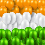 Indian Republic Day background with balloons national flag colors. Indian Republic Day vector background with balloons national flag colors vector illustration