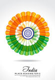 Indian republic day background with flower Royalty Free Stock Photography