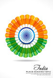 Indian republic day background vector illustration Royalty Free Stock Image