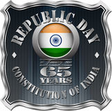 Indian Republic Day Badge Royalty Free Stock Photo