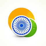 Indian Republic Day celebration with ashoka wheel. Royalty Free Stock Image