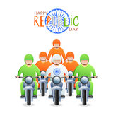 Indian Republic Day celebration with bike riders. Royalty Free Stock Photography
