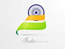 Indian Republic Day celebration concept with ashoka wheel. Stock Photos