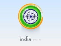 Indian Republic Day celebration concept with Ashoka Wheel. Stock Images