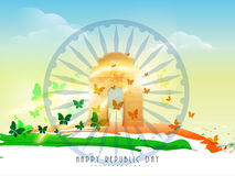 Indian Republic Day celebration concept. Stock Photos