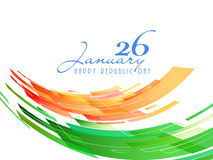 Indian Republic Day celebration concept. 26 January, Indian Republic Day celebration with national flag colors on white background Stock Photos