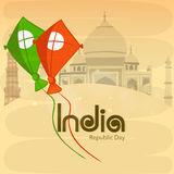 Indian Republic Day celebration concept with kites. Royalty Free Stock Photos