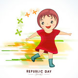 Indian Republic Day celebration with cute girl. Royalty Free Stock Photo