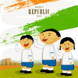 Indian Republic Day celebration with cute kids. Stock Photography