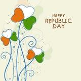 Indian Republic Day celebration greeting card. Royalty Free Stock Image