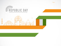 Indian Republic Day celebration with historical monuments. Royalty Free Stock Image