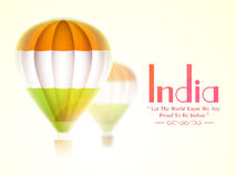 Indian Republic Day celebration with hot air balloon. Stock Photos