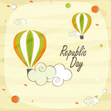 Indian Republic Day celebration with hot air balloon. Royalty Free Stock Photo