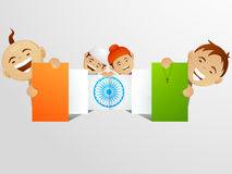 Indian Republic Day celebration with kids. Stock Image