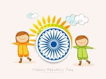 Indian Republic Day celebration with kids. Stock Images