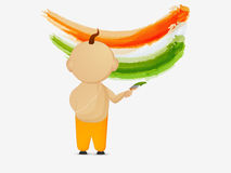 Indian Republic Day celebration with little boy. Royalty Free Stock Photography